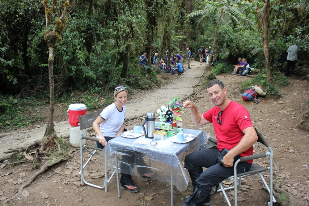 Lunch - Climbing Kilimanjaro 7 Day Machame Route with Big Expeditions and Equatours Limited