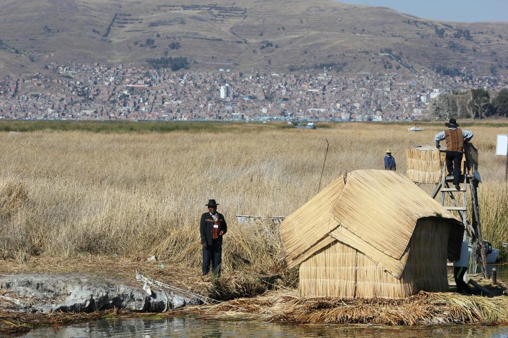 Uros Floating Islands Titicaca peru